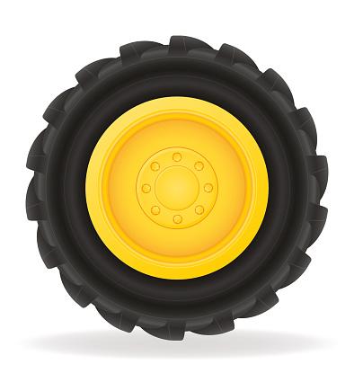 wheel for tractor vector illustration