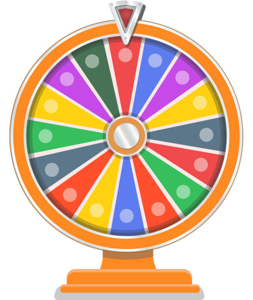 Royalty free prize wheel clip art vector images illustrations wheel of fortune flat design template vector art illustration maxwellsz