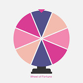 Wheel of Fortune, Lucky Icon. Vector Illustration