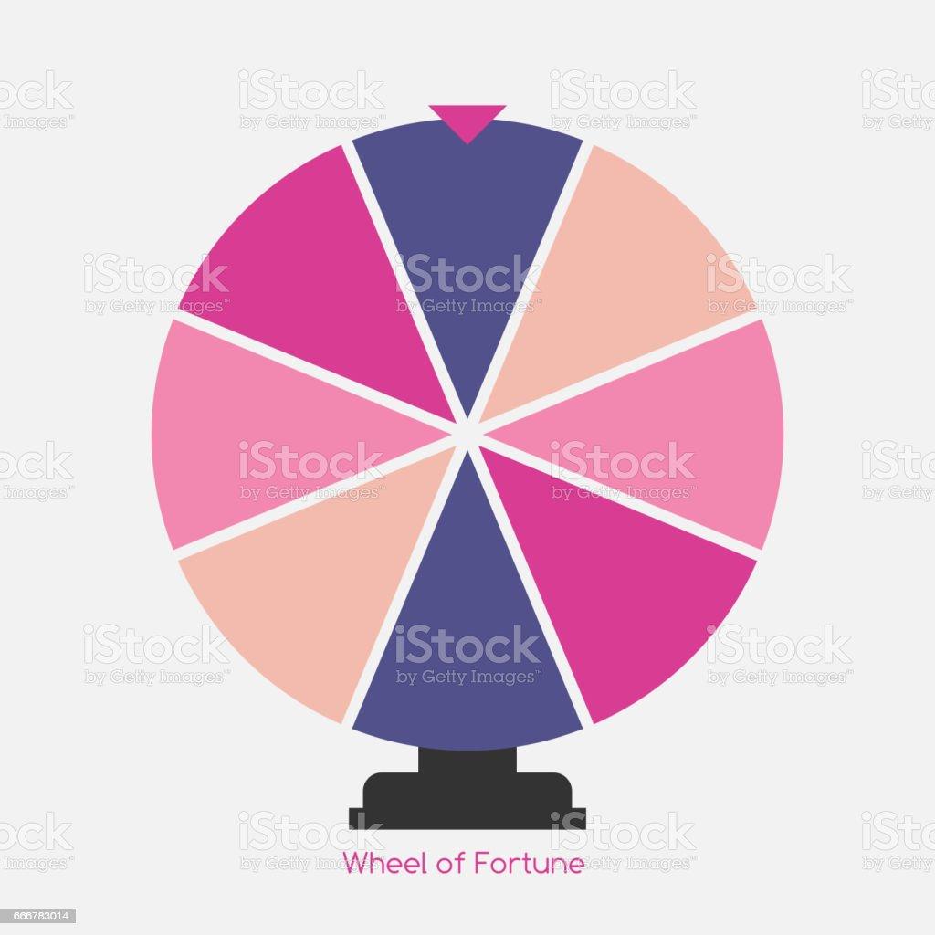Wheel of Fortune, Lucky Icon. Vector Illustration vector art illustration