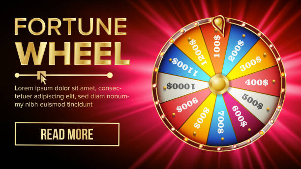 ilustrações de stock, clip art, desenhos animados e ícones de wheel of fortune vector. gamble chance leisure. colorful gambling wheel. jackpot prize concept background. bright illustration - criança perdida