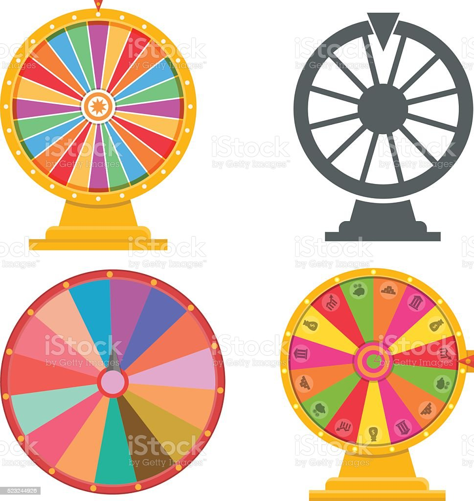 Wheel of fortune vector art illustration