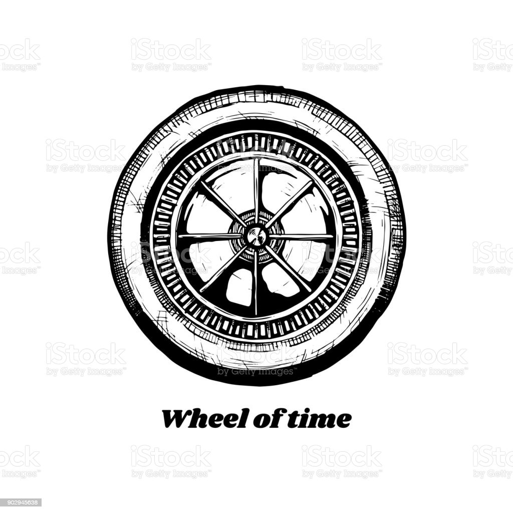 Wheel Of History Stock Illustration - Download Image Now
