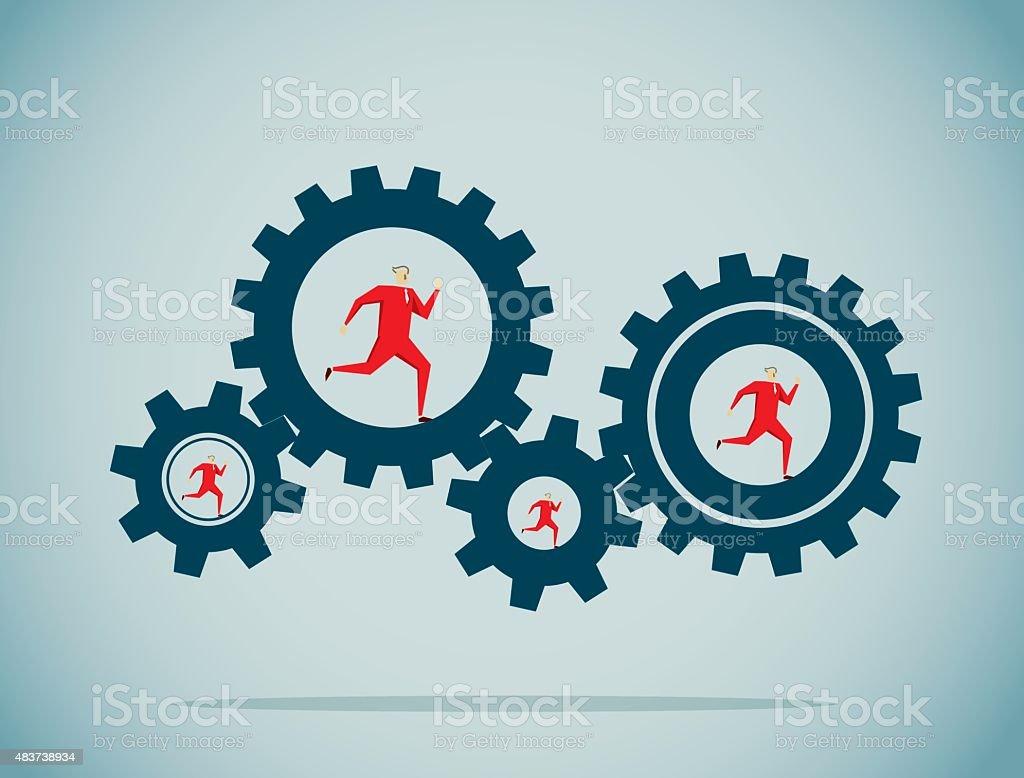 Wheel vector art illustration