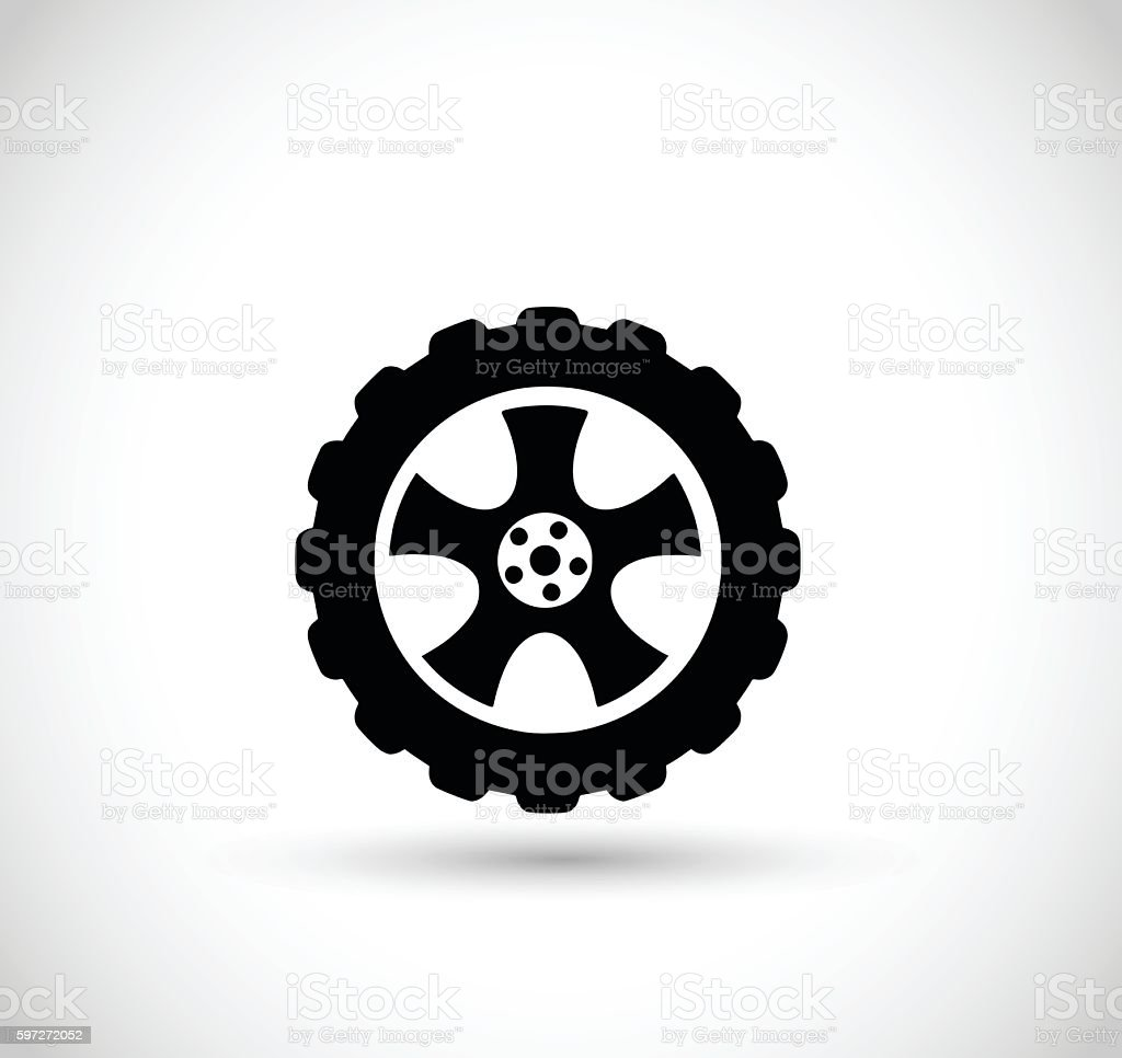 Wheel with tire vector illustration Lizenzfreies wheel with tire vector illustration stock vektor art und mehr bilder von computergrafiken