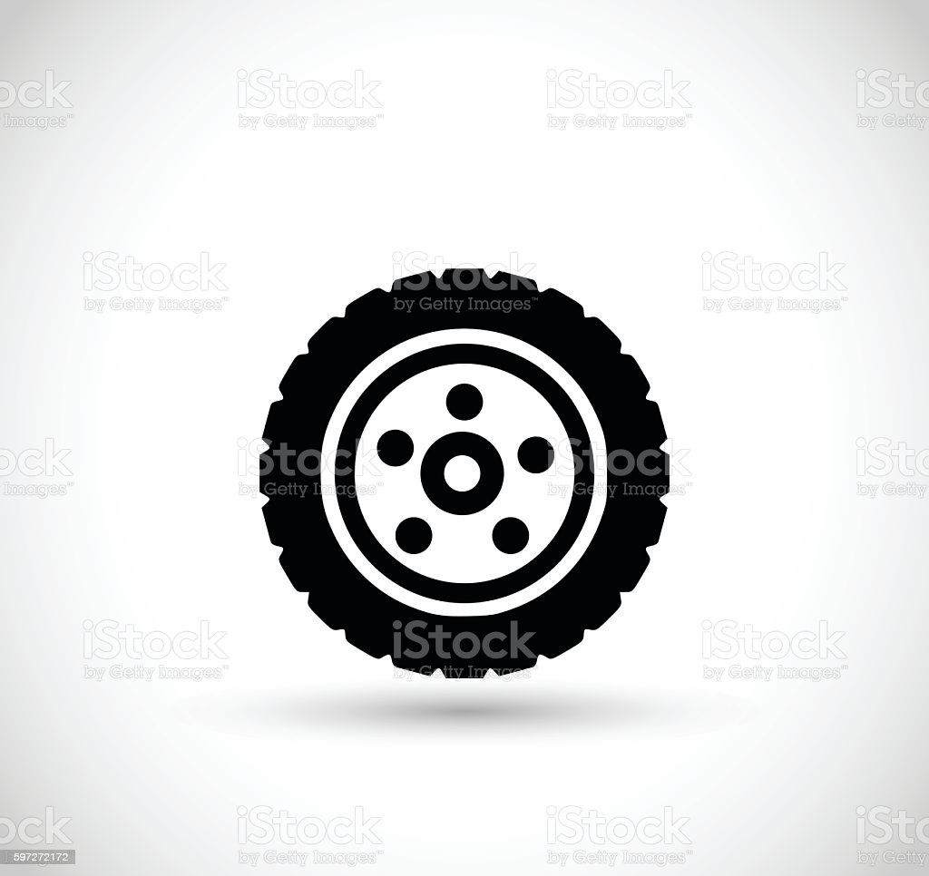 Wheel with tire vector illustration royalty-free wheel with tire vector illustration stock vector art & more images of black color