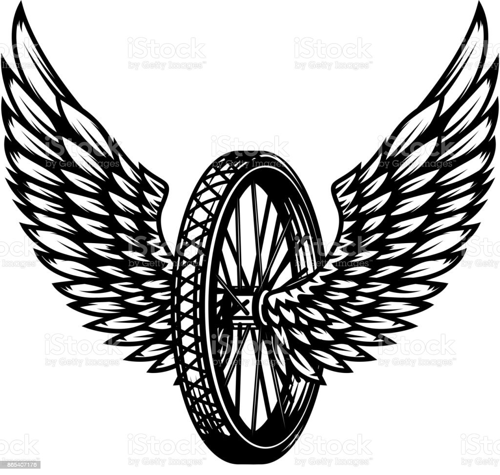 wheel with wings stock vector art more images of animal body part rh istockphoto com wind vector map wind vector chart