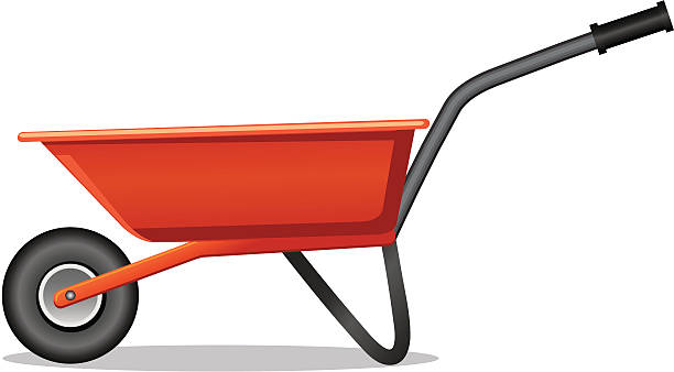 stockillustraties, clipart, cartoons en iconen met wheelbarrow - kruiwagen
