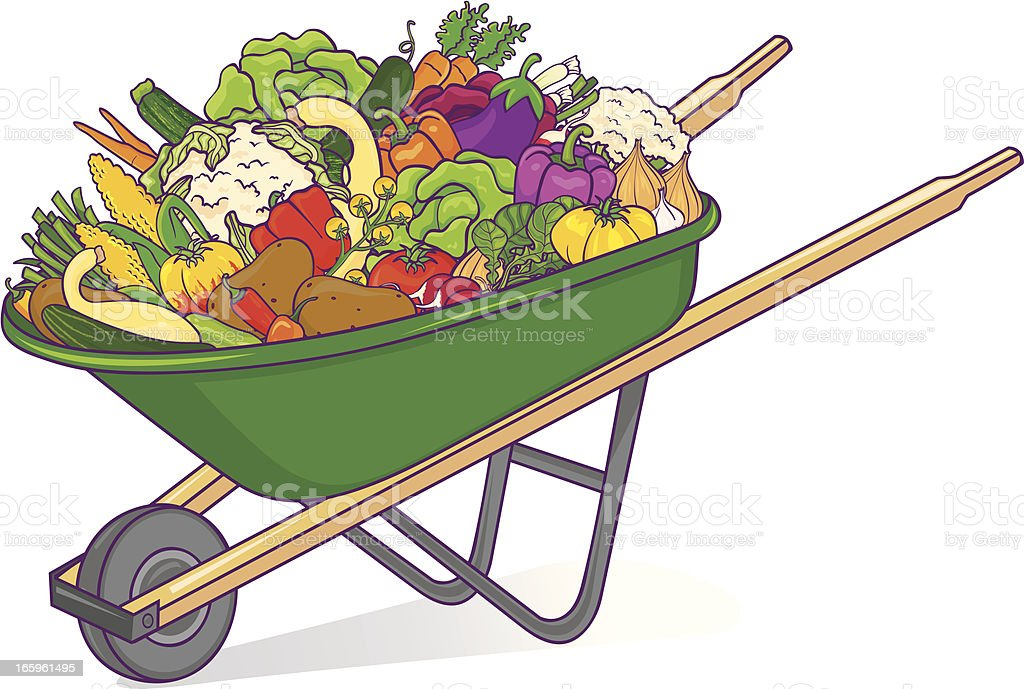Wheelbarrow with vegetables royalty-free wheelbarrow with vegetables stock vector art & more images of carrot