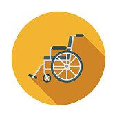 istock Wheelchair Flat Design Emergency Services Icon 966602114
