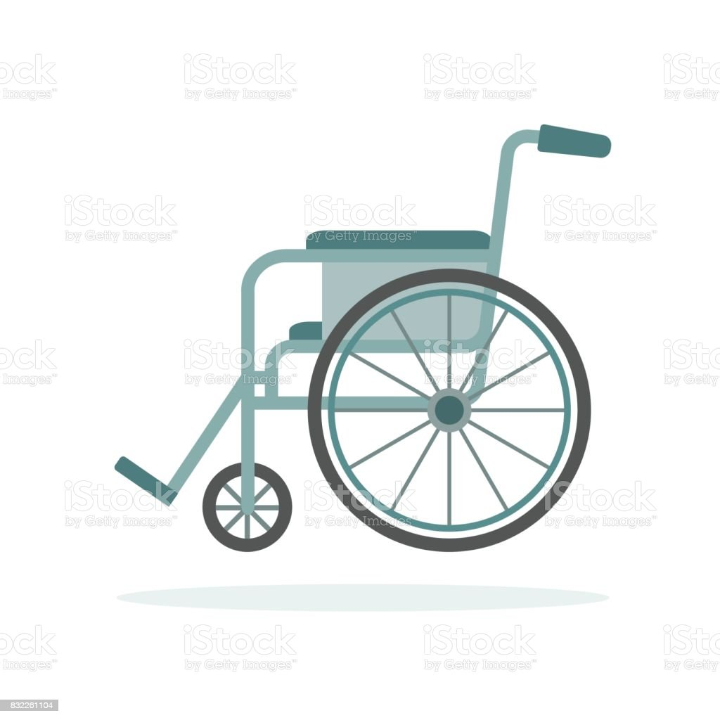 Wheelchair isolated on white background. vector art illustration