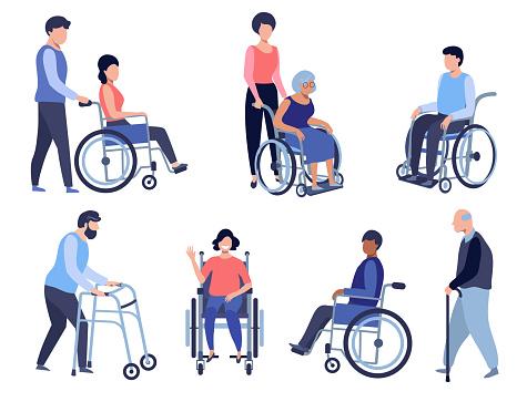 Wheelchair person.