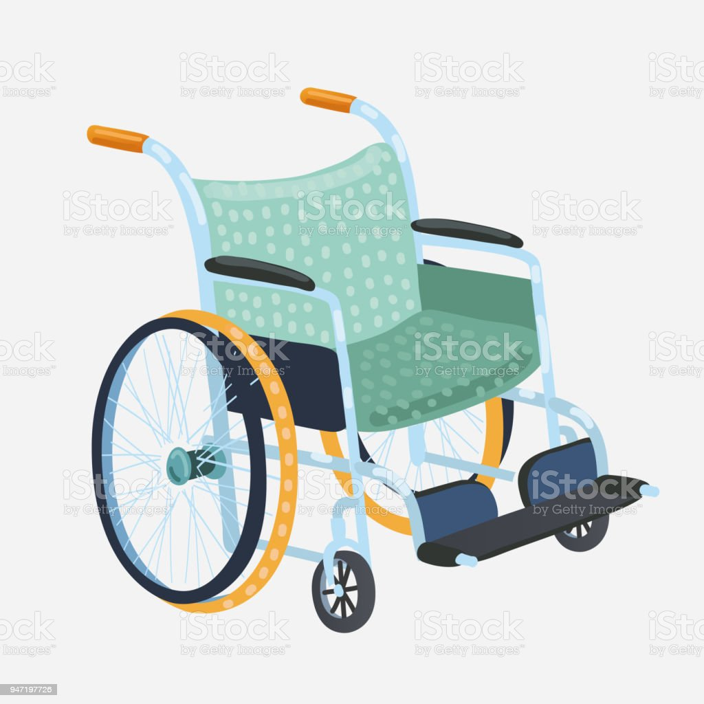 Wheelchair Vector Classic Transport Chair For Disabled People Sick ...