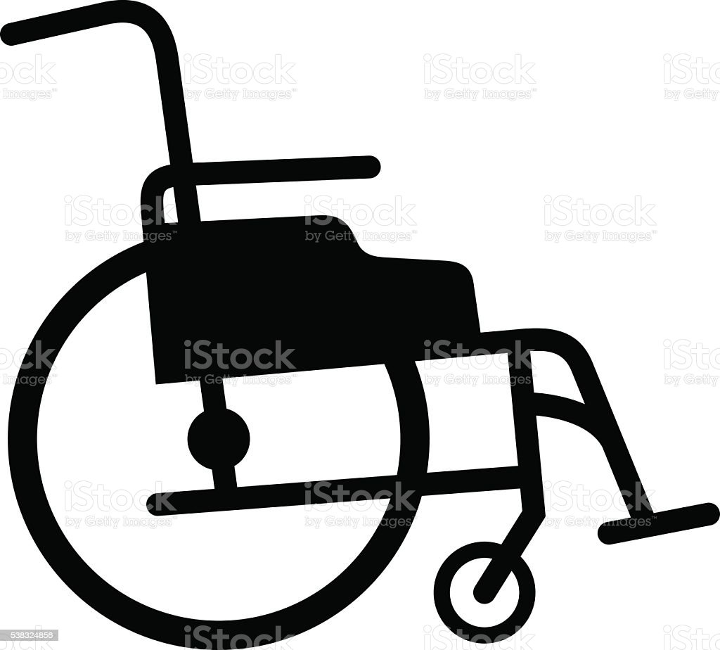 Wheelchair vector art illustration