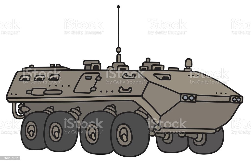 Wheeled Troop Carrier Stock Illustration - Download Image Now