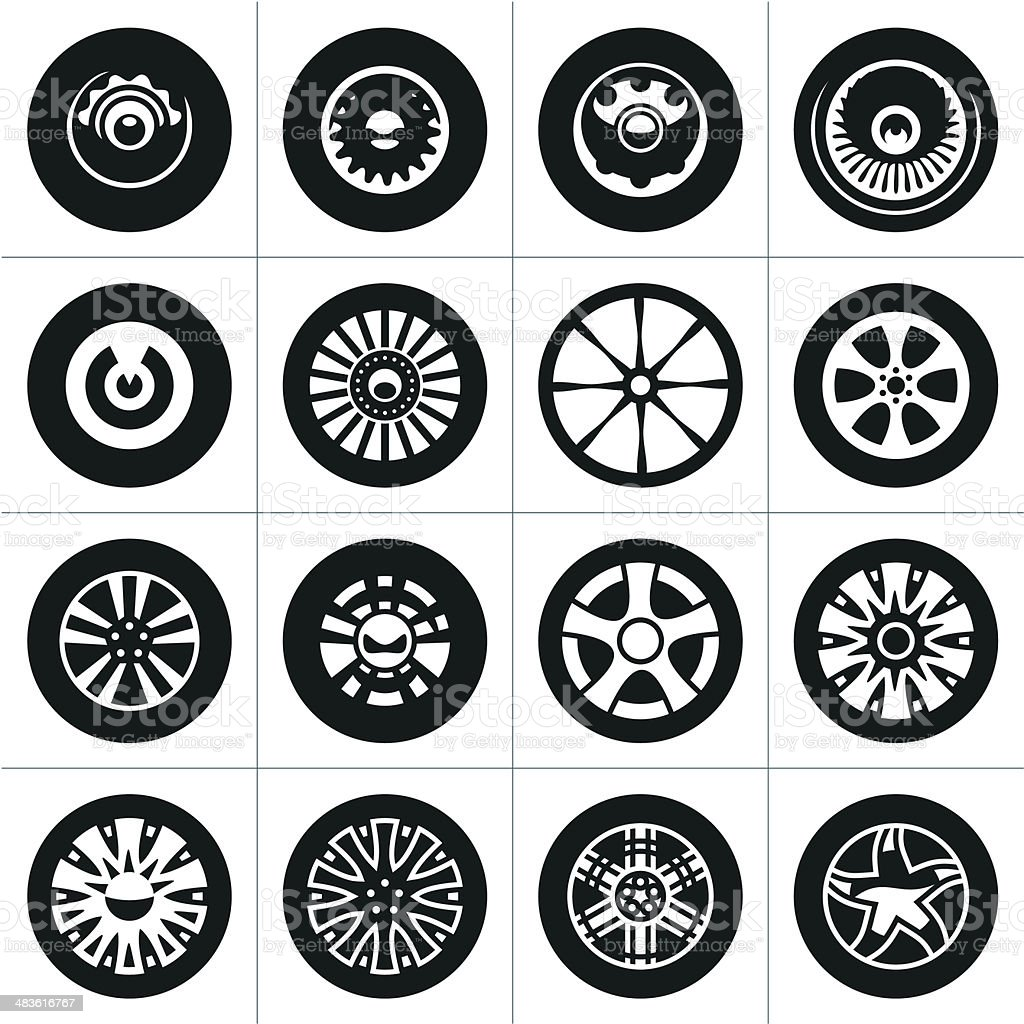 Wheels. Rims. vector art illustration