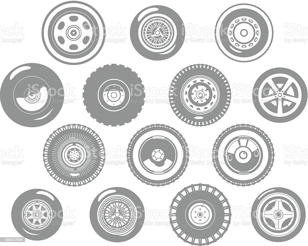 wheels royalty-free stock vector art