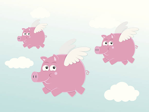 Royalty Free When Pigs Fly Clip Art Vector Images Illustrations