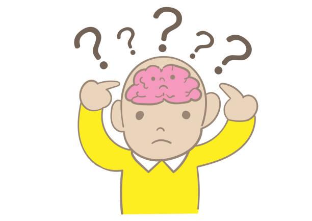 When wondering, the child's brain thinks When wondering, the child's brain thinks fine art statue stock illustrations