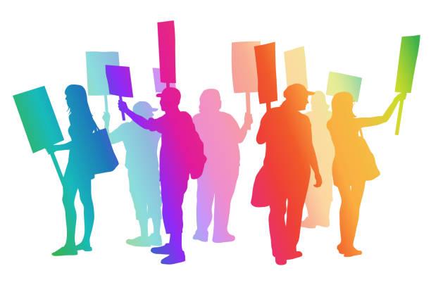 ilustrações de stock, clip art, desenhos animados e ícones de where are the jobs rainbow - greve