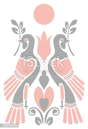 Dove. Vector picture.