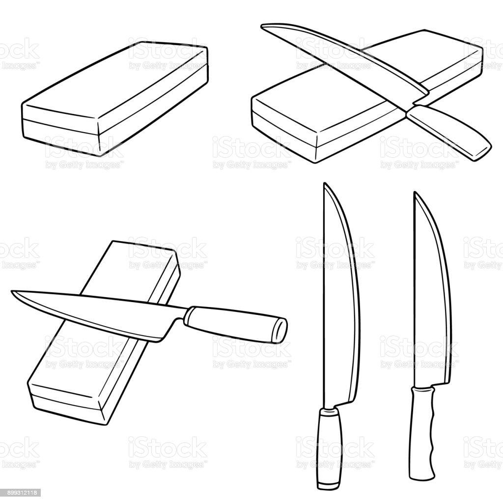 whetstones vector art illustration