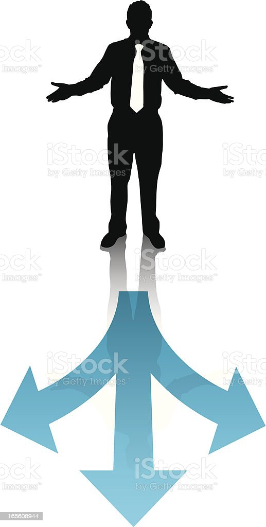 Which Way royalty-free stock vector art