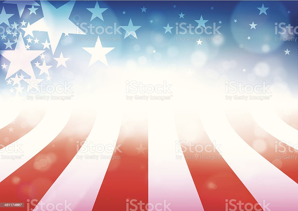 Whimsical American flag fourth of July graphic royalty-free stock vector art
