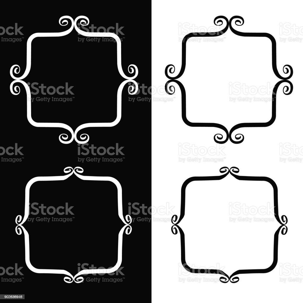 Skurrile Pinsel Bilder – Vektorgrafik