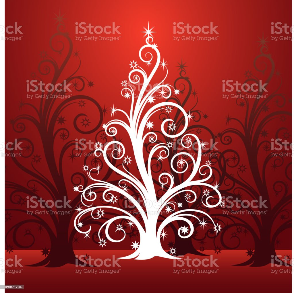 Whimsical Christmas Tree royalty-free stock vector art