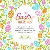 Happy Easter eggs. EPS10.