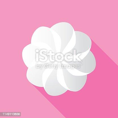 istock Whipped Cream Icon Flat 1149113856