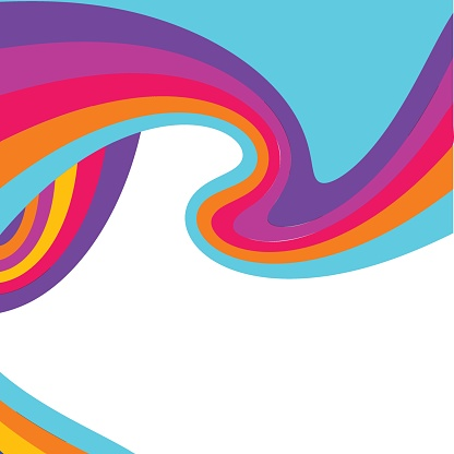 whirl psychedelic vector background