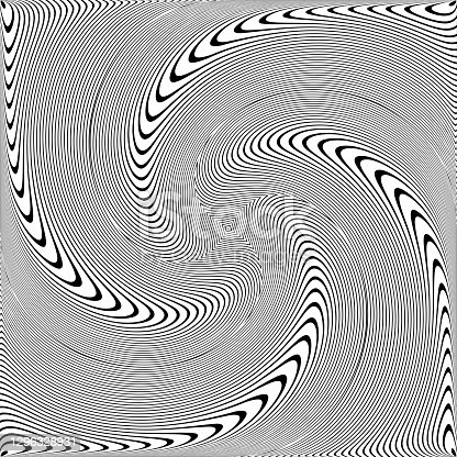 istock Whirl rotation movement illusion in abstract op art design. 1296328931