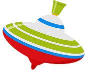 Whirligig baby toy icon. Vector flat cartoon illustration.