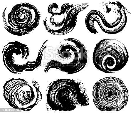 whirlpool. maelstrom. wave splash. brush stroke wave.