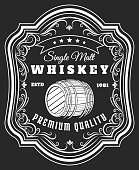 Whiskey barrel label
