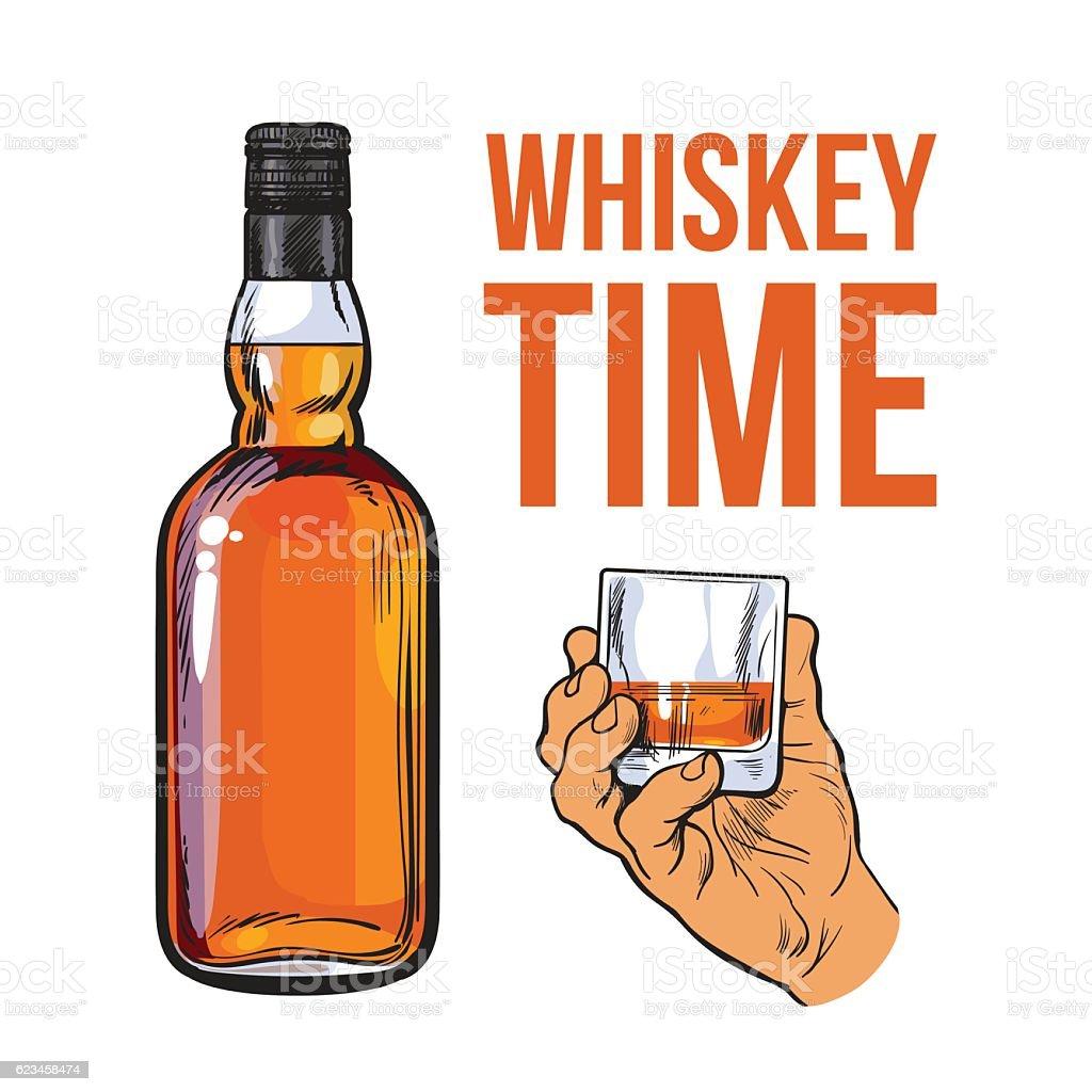Elegant 750ml Wine Decanter Pourer Wine Whisky Bottle ... |Whisky Bottle With Glass