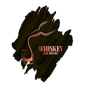 istock whiskey glass and bottle watercolor on white background 1307643562