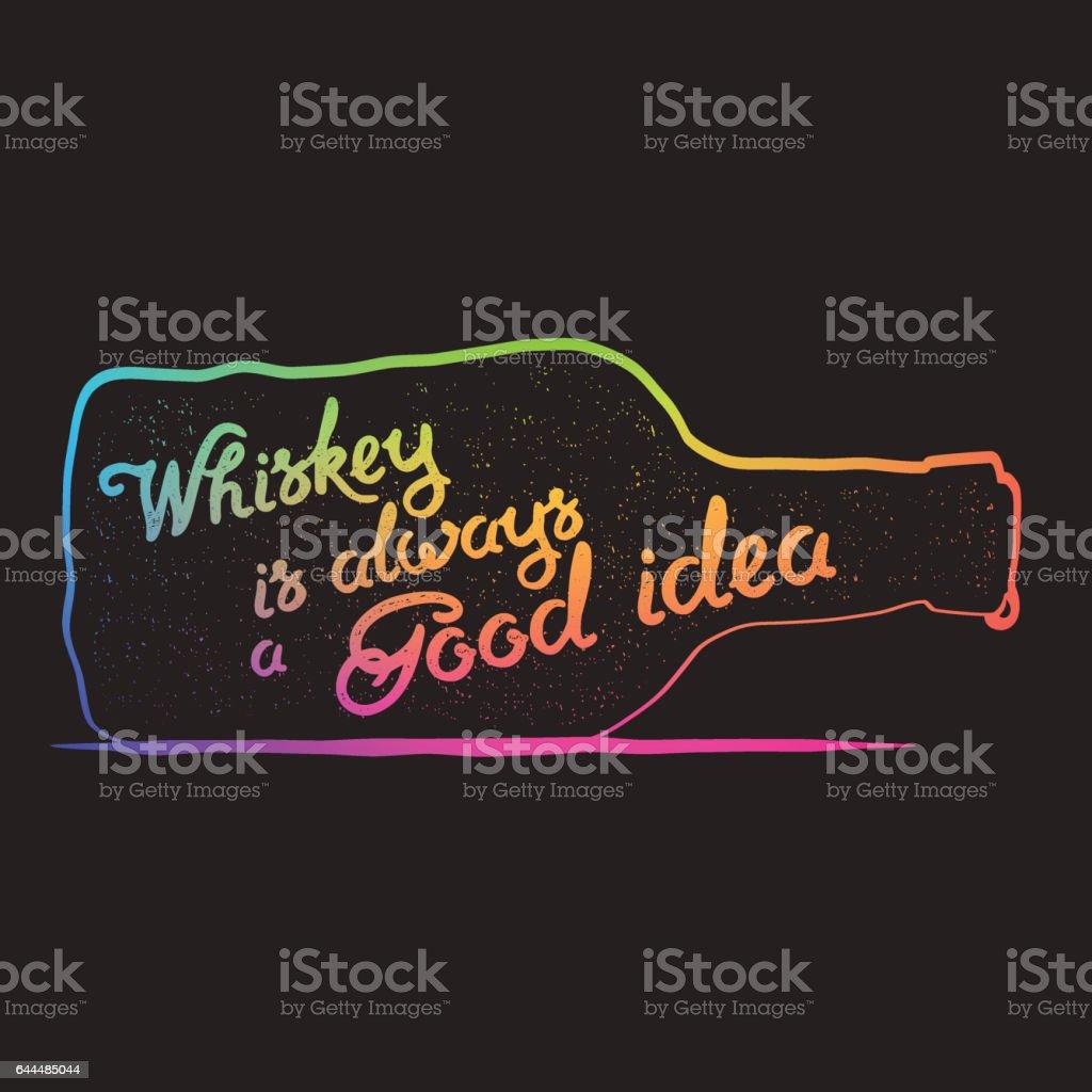 Whiskey Lettering art vector art illustration