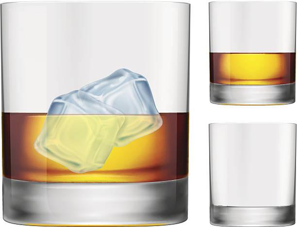 whisky glas - schottischer whisky stock-grafiken, -clipart, -cartoons und -symbole