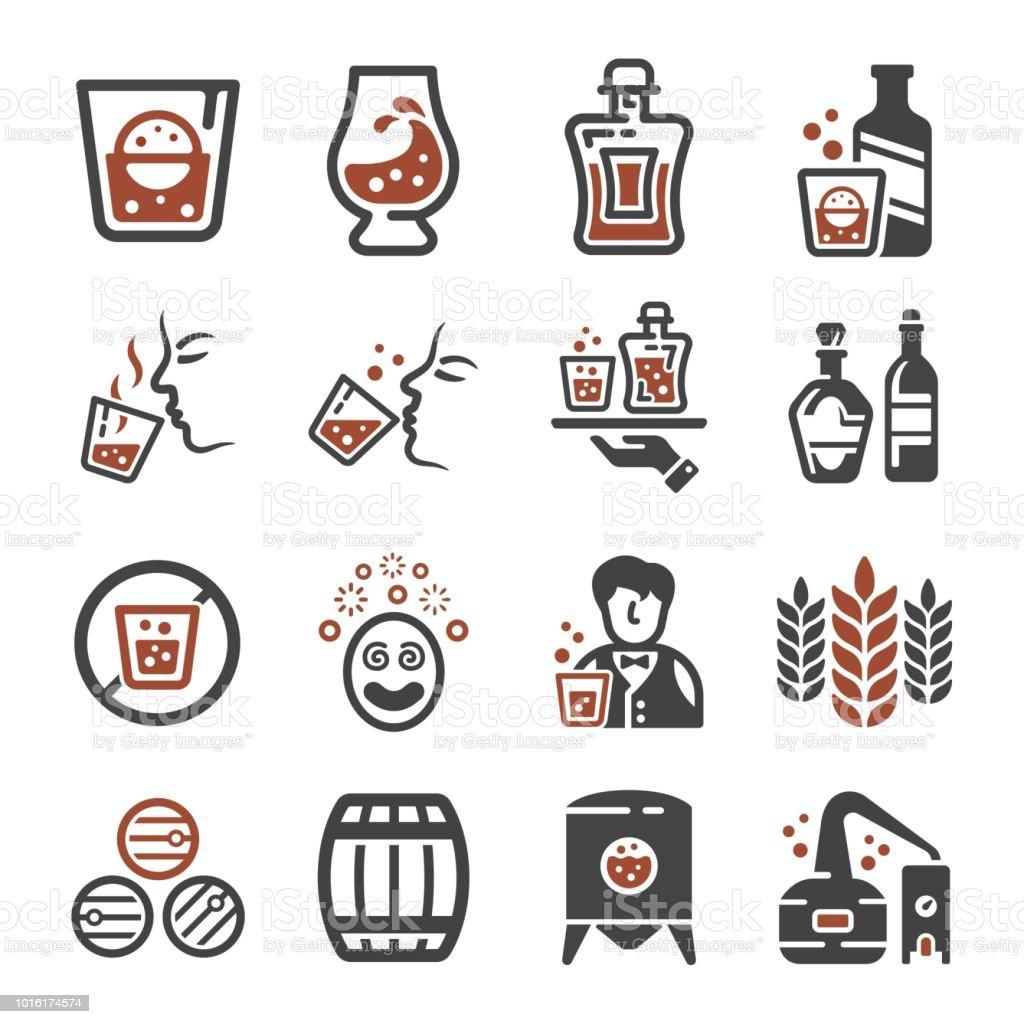 whisky icon vector art illustration