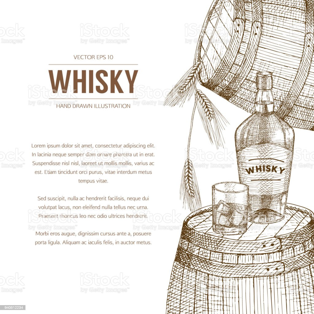 Whisky Illustration Stock Illustration
