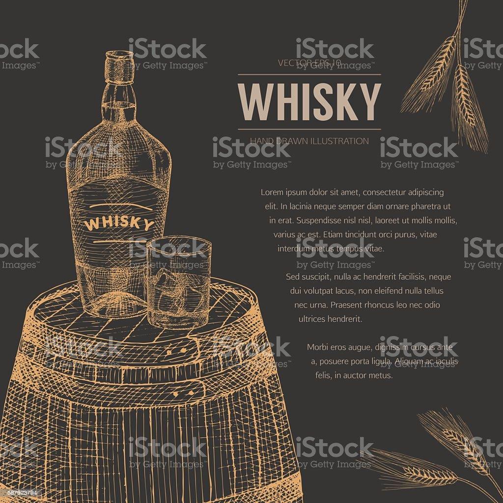 Whisky template. vector art illustration