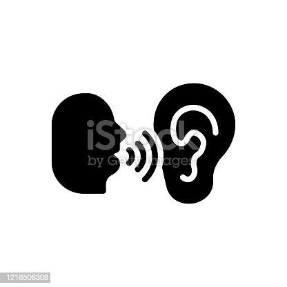 istock Whisper murmur 1216506308