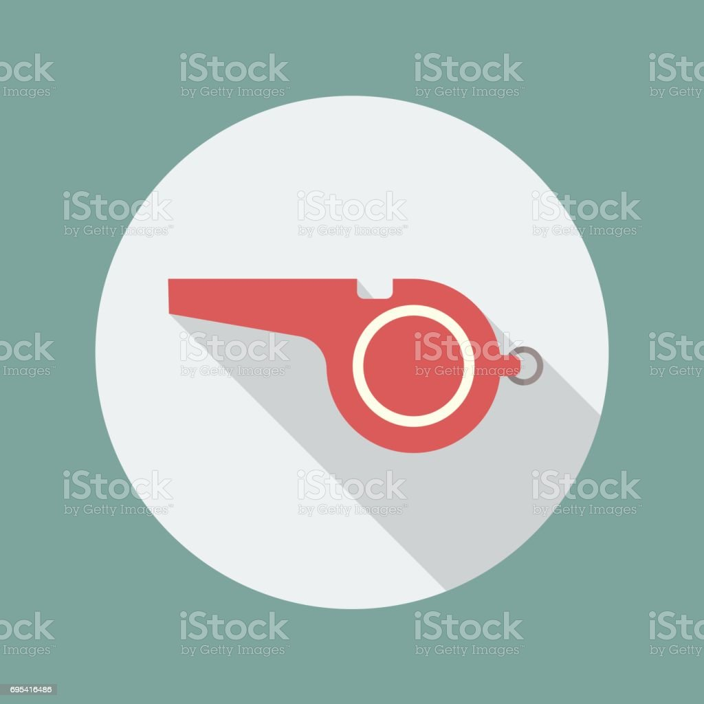 Whistle flat icon royalty-free whistle flat icon stock illustration - download image now