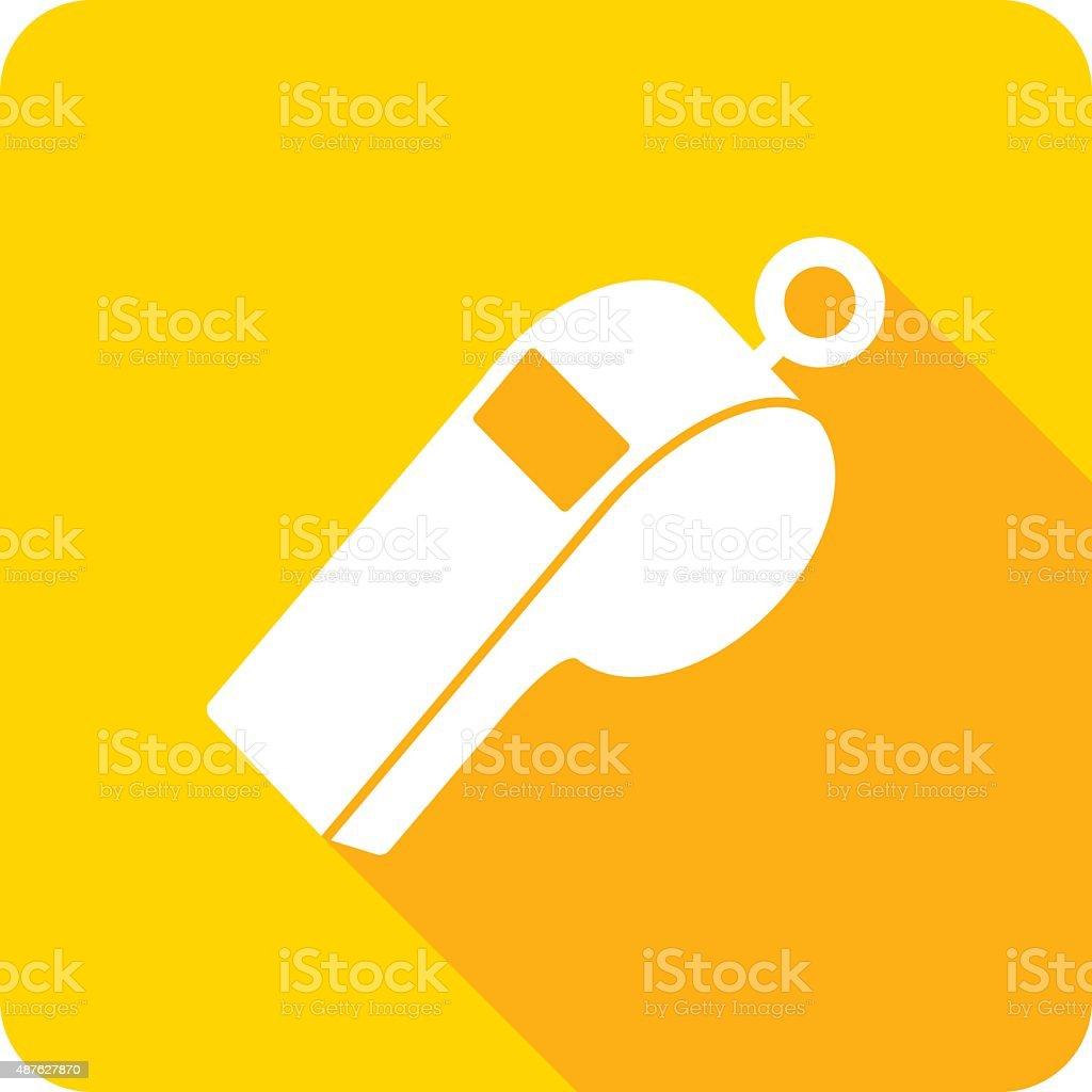Whistle Icon Silhouette vector art illustration