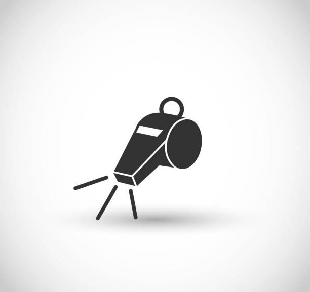 illustrazioni stock, clip art, cartoni animati e icone di tendenza di whistle icon vector - fischietto