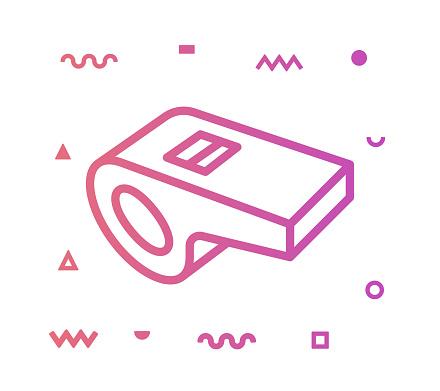 Whistle Line Style Icon Design