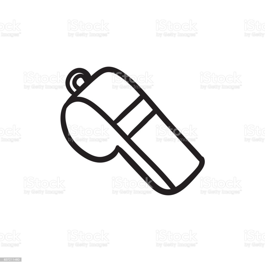 Whistle sketch icon royalty-free whistle sketch icon stock illustration - download image now